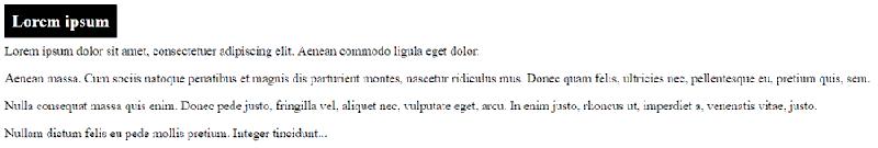 Texto al que aplicaremos estilo combinando selectores CSS
